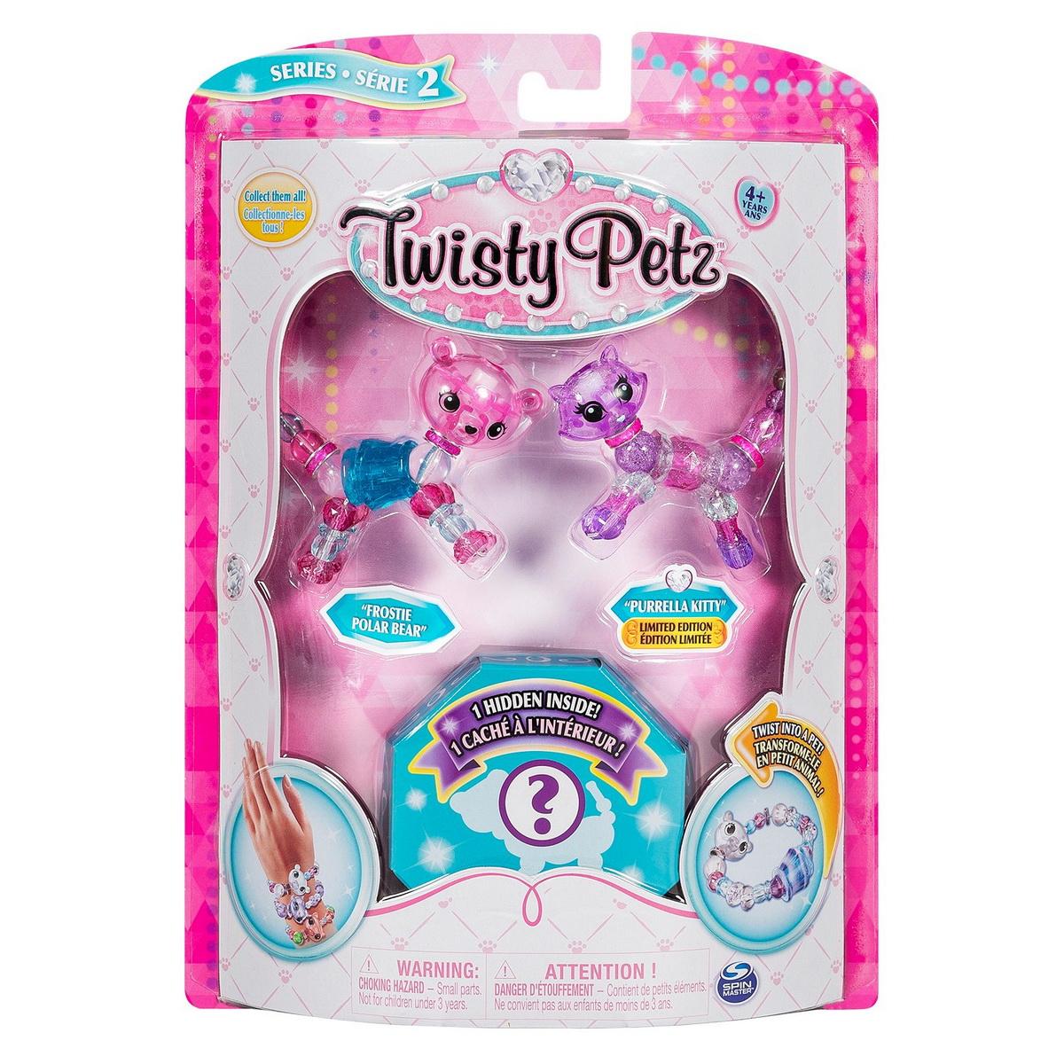 Twisty Petz Set 3 Bratari Animalute Ursulet Pisicuta Si Surpriza