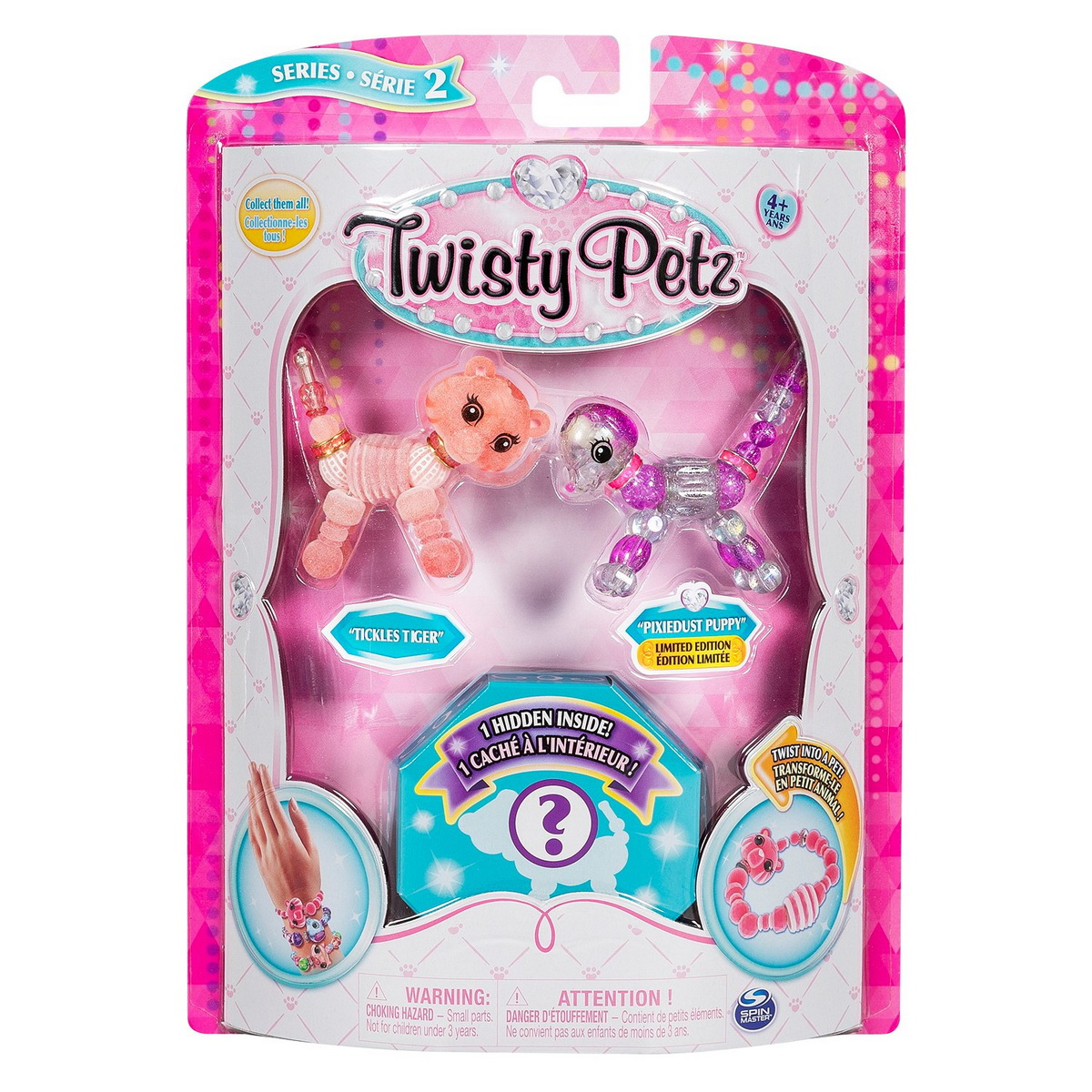 Twisty Petz Set 3 Bratari Animalute Catel Tigru Si Surpriza