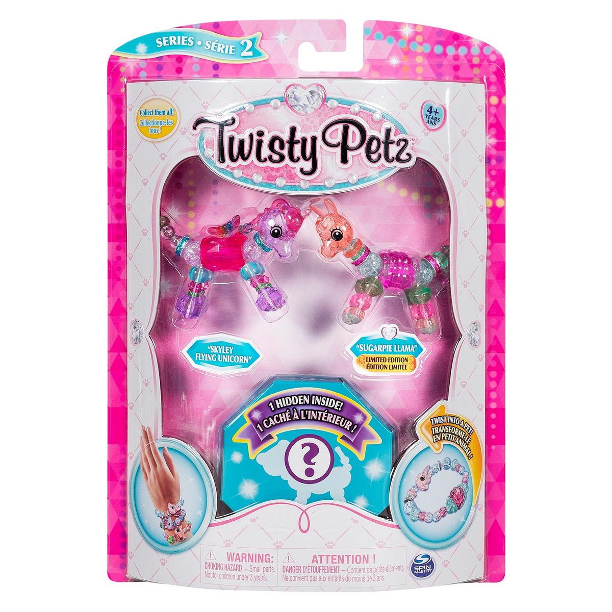 Twisty Petz Set 3 Bratari Animalute Unicorn Lama Si Surpriza