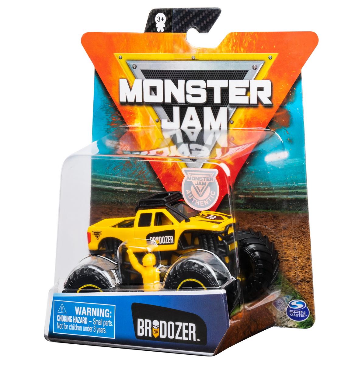 Monster Jam Metalica Brodozer Scara 1 La 64