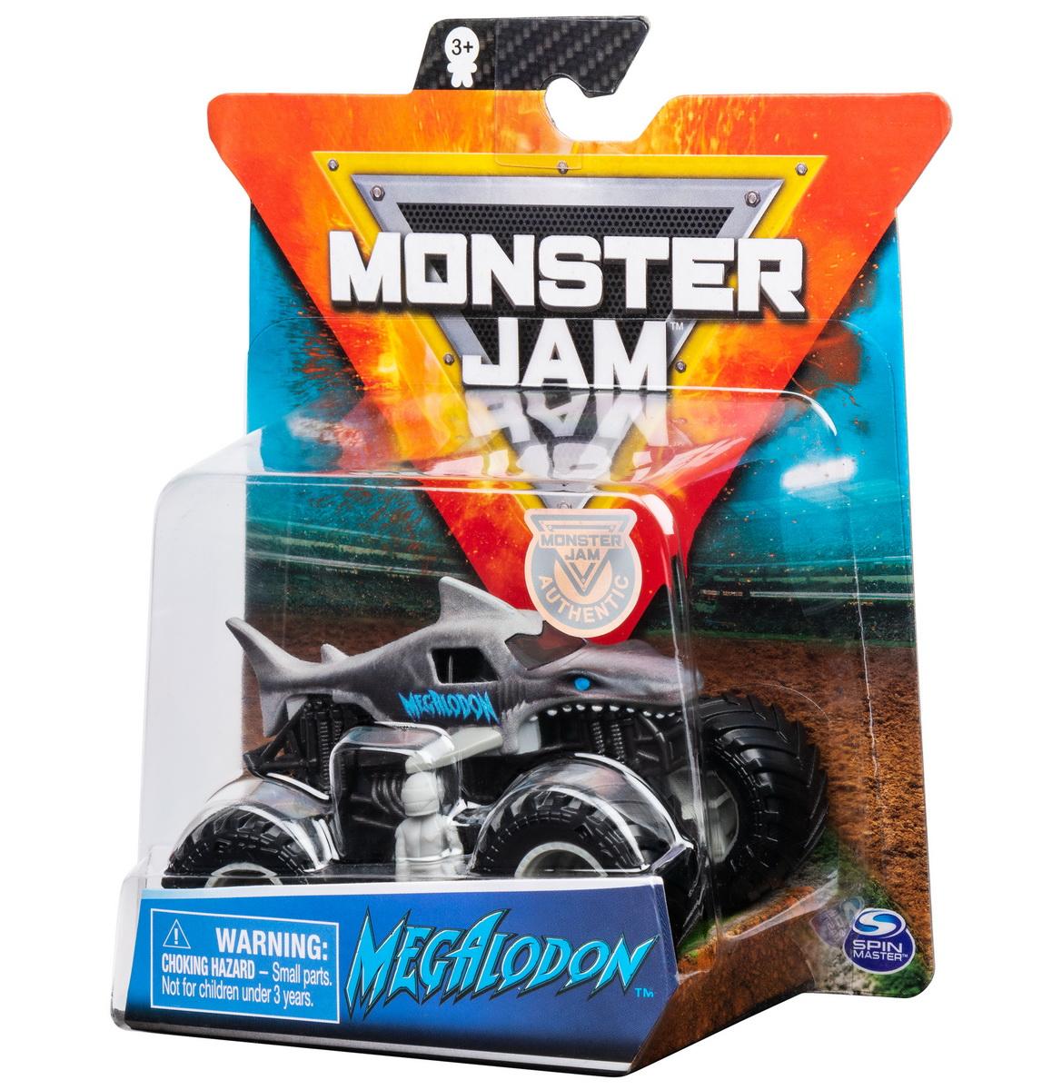 Monster Jam Metalica Black Megalodon Scara 1 La 64