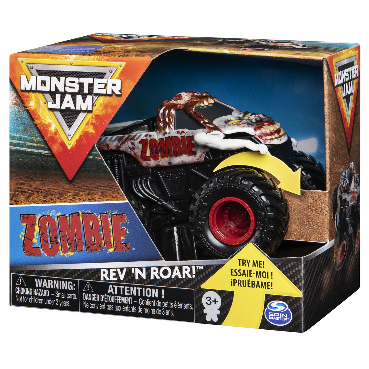 Monster Jam Metalice Seria Roar Scara 1 La 43 Zombie