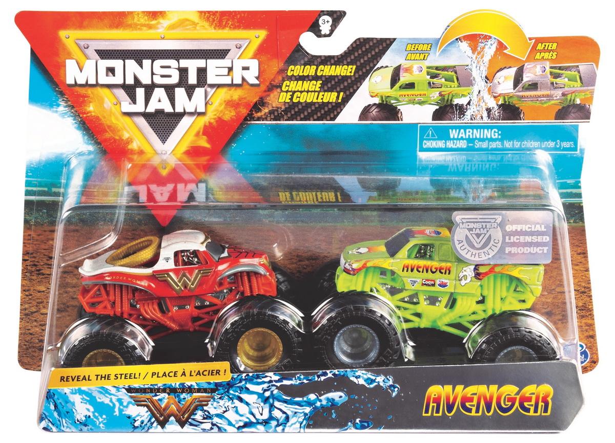 Monster Jam Set 2 Machete Wonder Woman Si Avenger Color Change