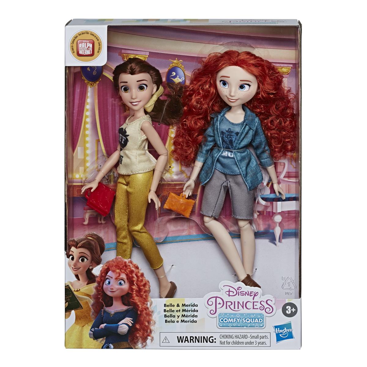 Set Disney Papusi Printese Belle Si Merida