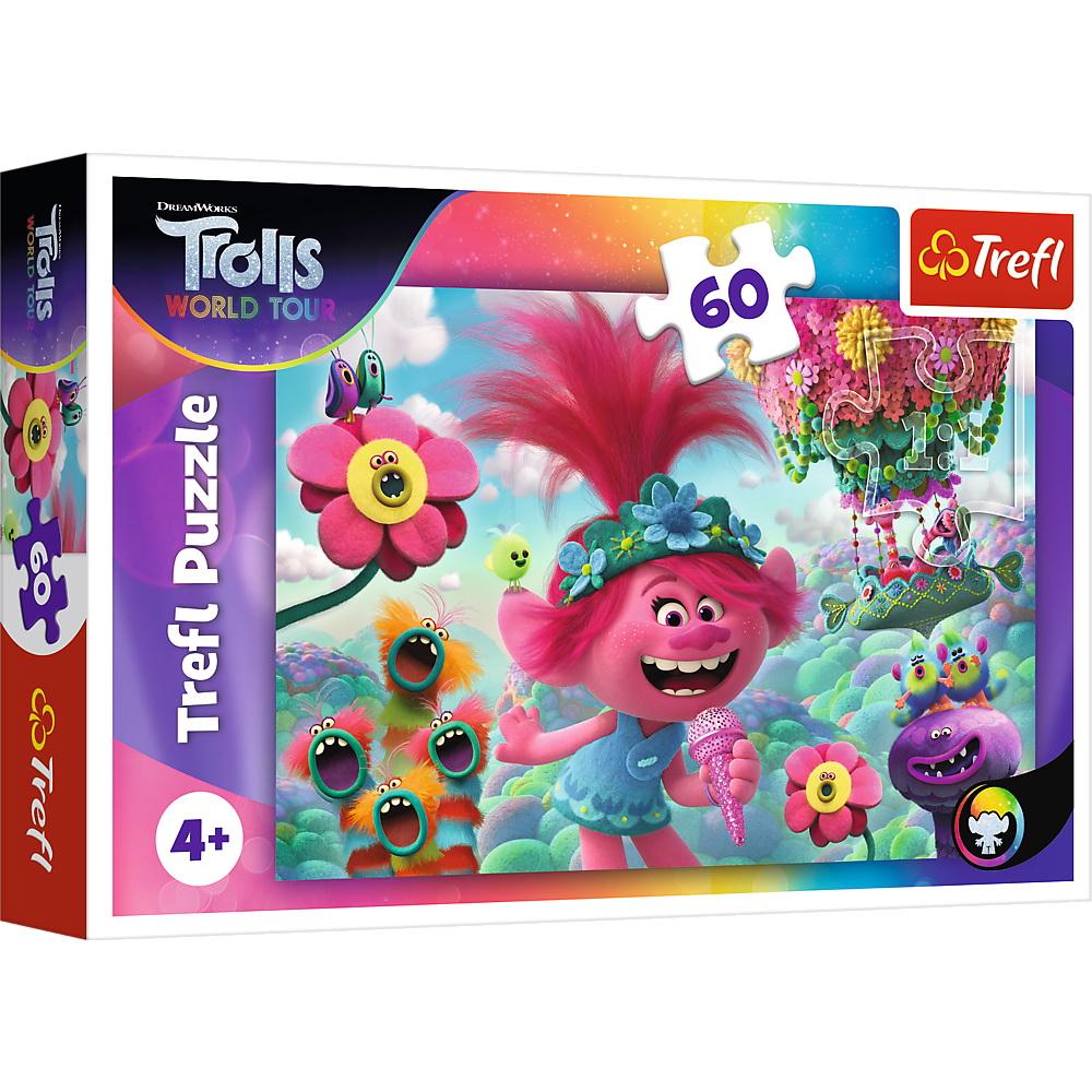 Puzzle Trefl 60 Troli Cantand De Fericire