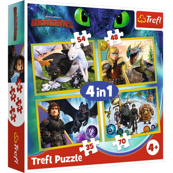 Puzzle Trefl 4in1 Cum Sa Iti Dresezi Dragonul 3