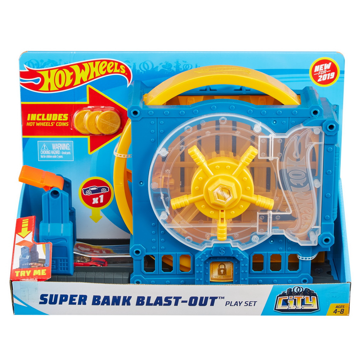 Hot Wheels City Delux Cursa Extrema Super Bank Blast Out