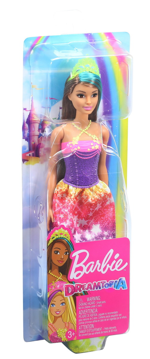 Barbie Papusa Printesa Dreamtopia Cu Coronita Galbena