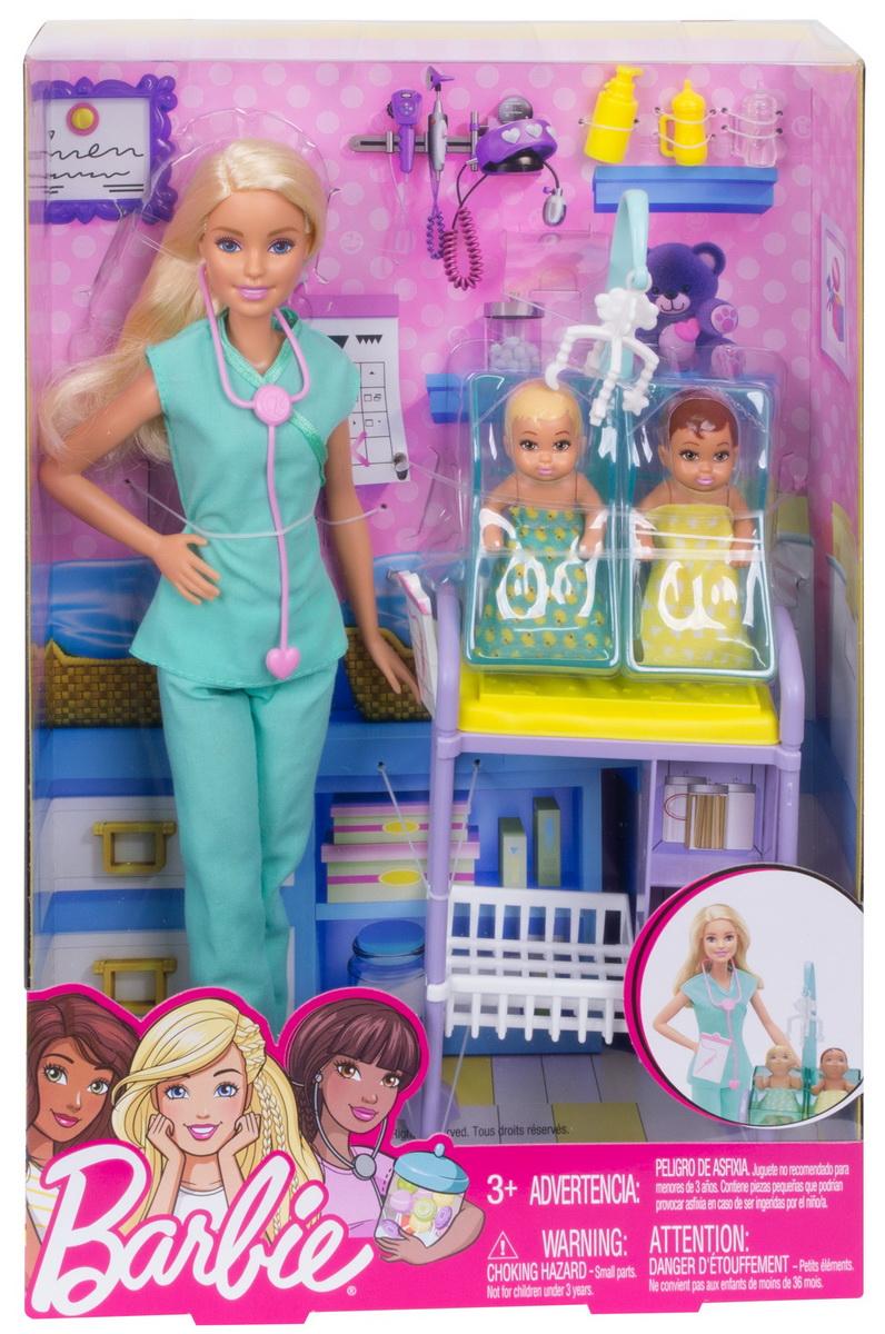 Barbie Cariere Set Mobilier Cu Papusa Doctor Pediatru