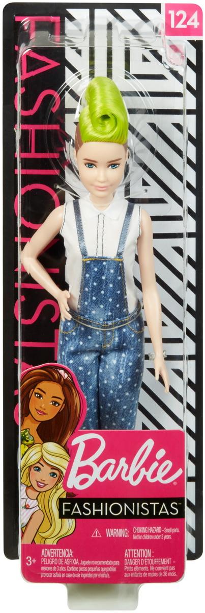 Papusa Barbie Fashionista Cu Salopeta Si O Coafura Verde