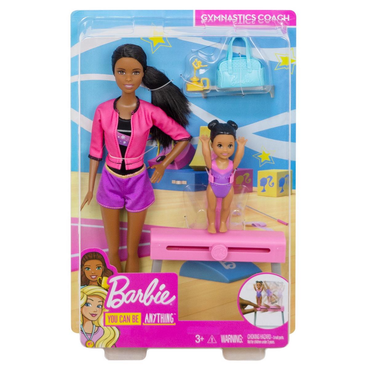 Papusa Barbie Bruneta Cariera In Sport Antrenoare De Gimnastica