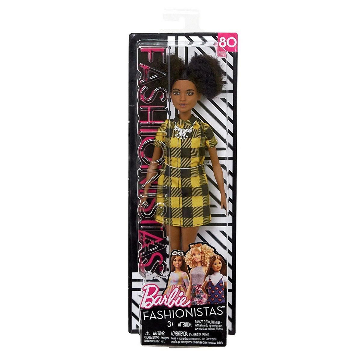 Papusa Barbie Fashionista Cu Rochita In Carouri