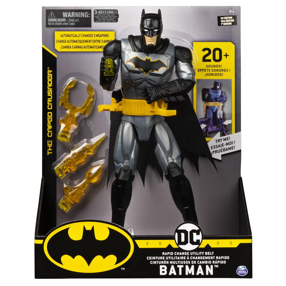Batman Figurina 29cm Deluxe Cu Accesorii Si Fraze In Limba Engleza