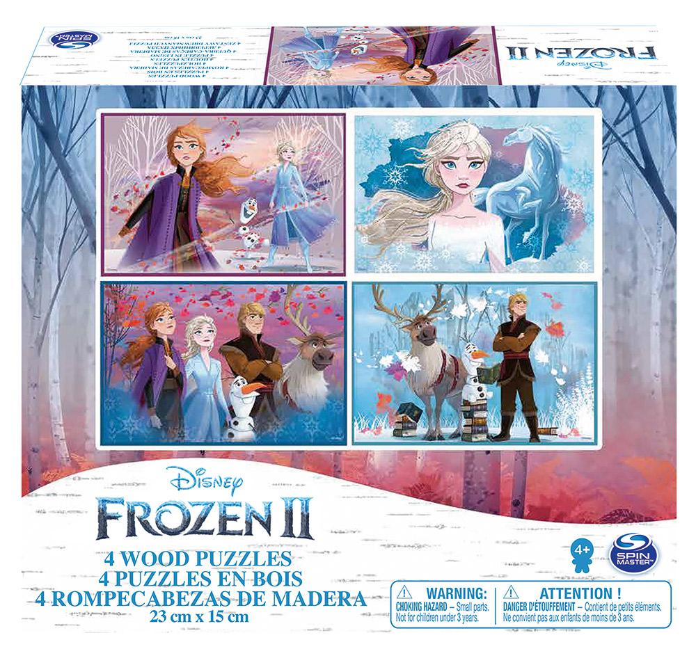Set 4 Puzzle-uri Frozen2 Din Lemn