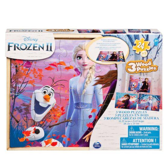 Set 3 Puzzle-uri Frozen2 Din Lemn