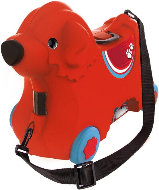 Big Troller Cu Roti Catelus Rosu Capacitate 15l