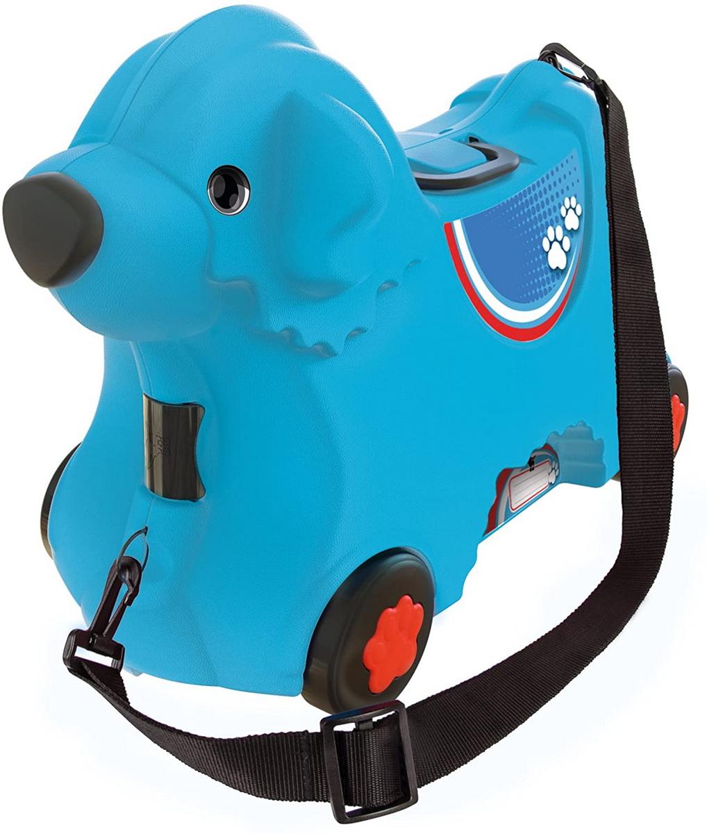 Big Troller Cu Roti Catelus Albastru Capacitate 15l