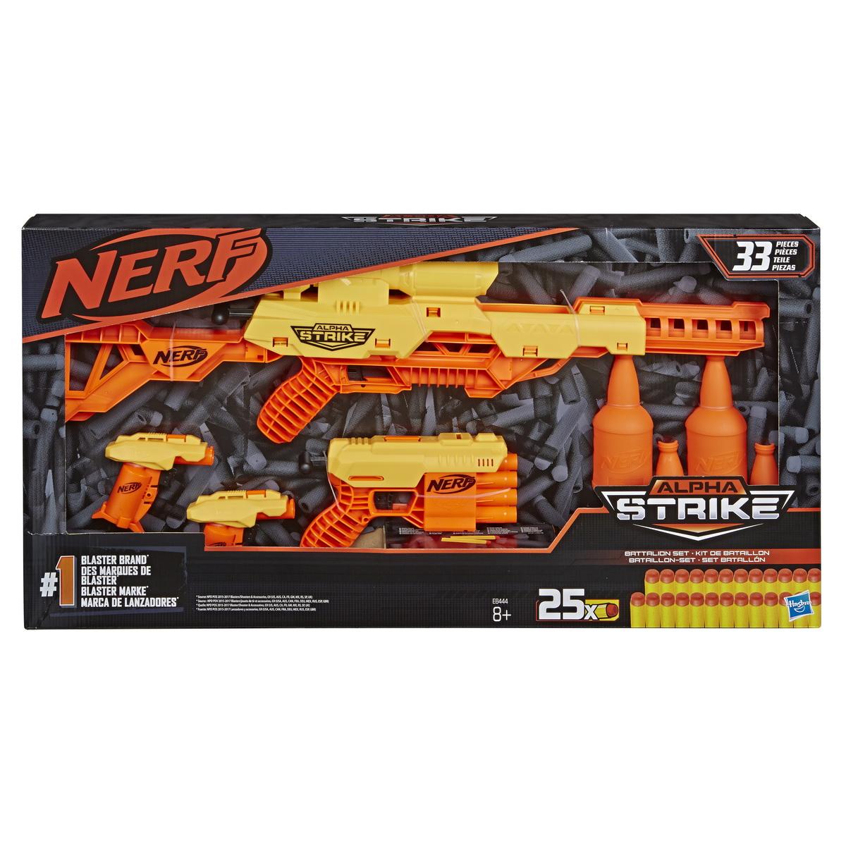 Nerf Set Blaster Alpha Strike Battalion