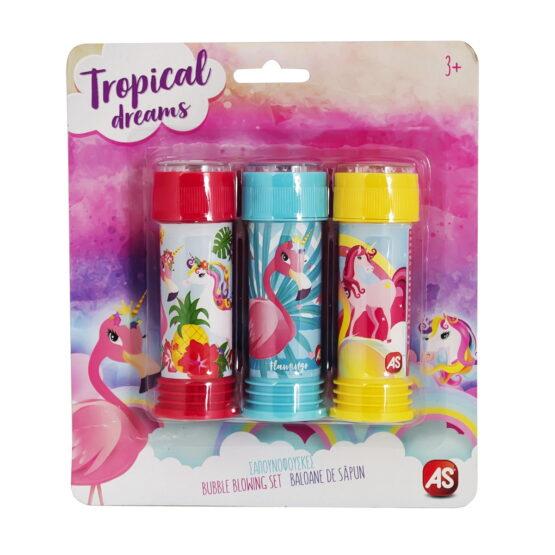 Set Flamingo 3 Tuburi Baloane De Sapun