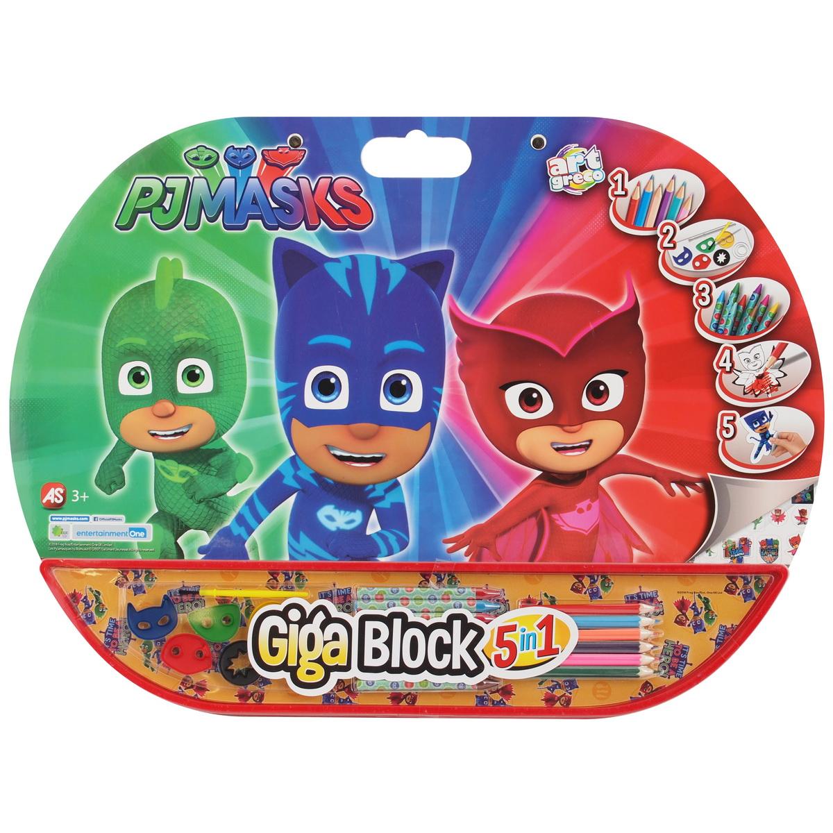 Set Pentru Desen 5in1 Gigablock Eroi In Pijamale