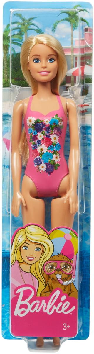Papusa Barbie Blonda Cu Costum De Baie Inflorat