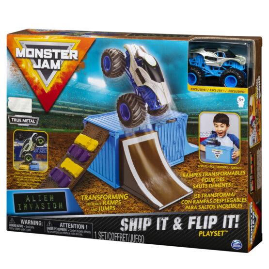 Monster Jam Set Cascadorii In Container Alien Invasion