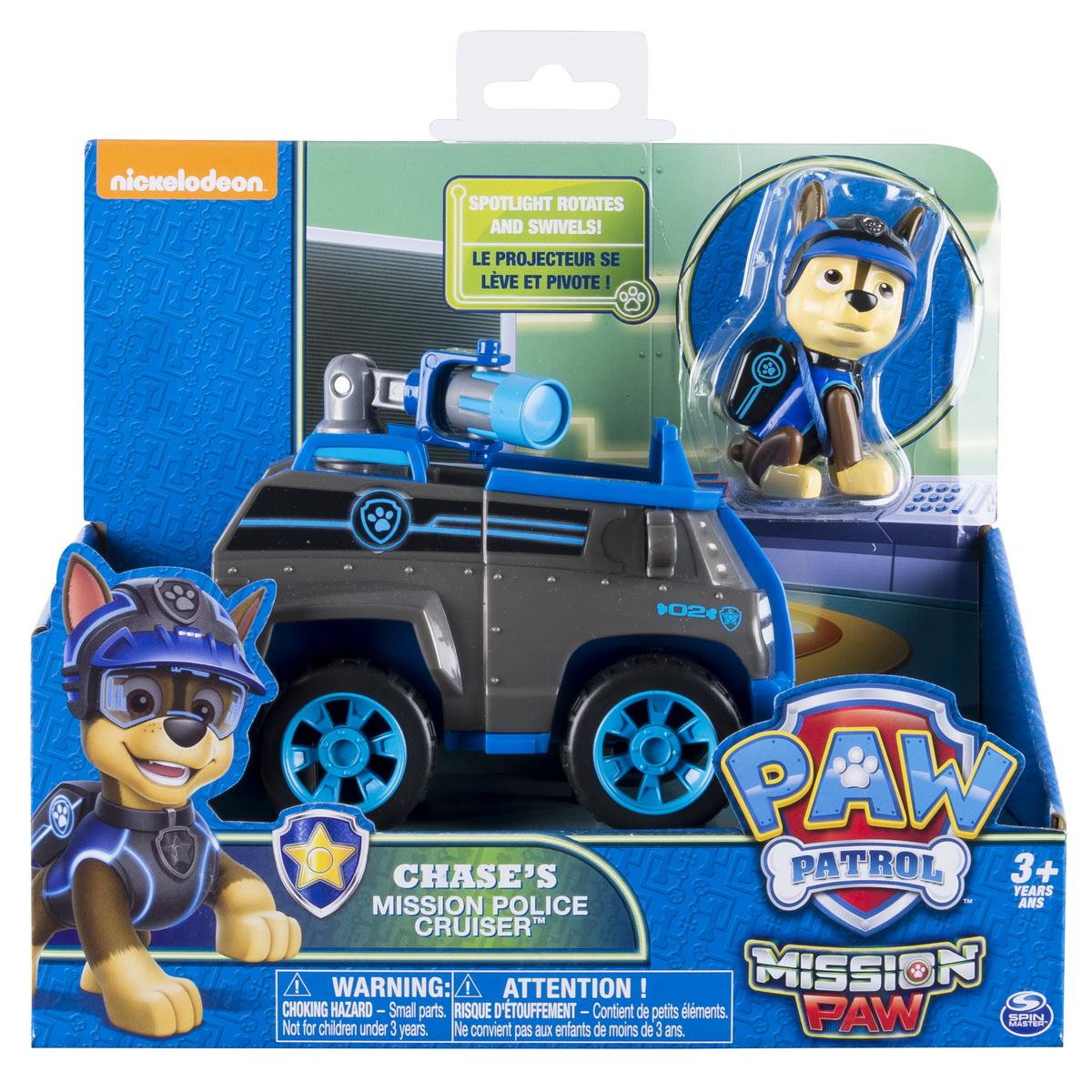 Patrula Catelusilor Set Masina De Politie Cu Figurina Chase