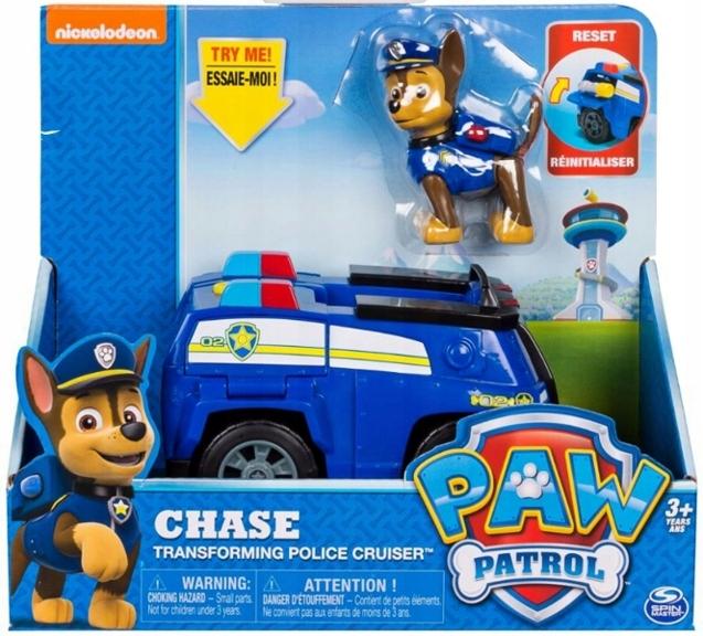 Patrula Catelusilor Set Figurina Chase Cu Masina De Politie