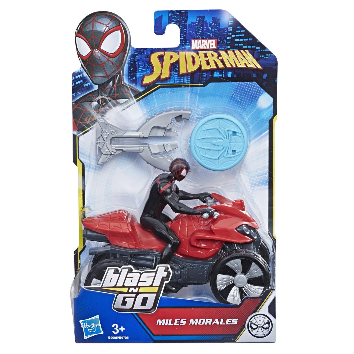 Masinuta Atv A Lui Spiderman Cu Figurina Si Lansator