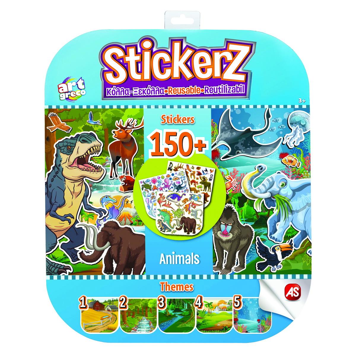 Set 150 De Autocolante Stickerz Reutilizabile Cu Animale
