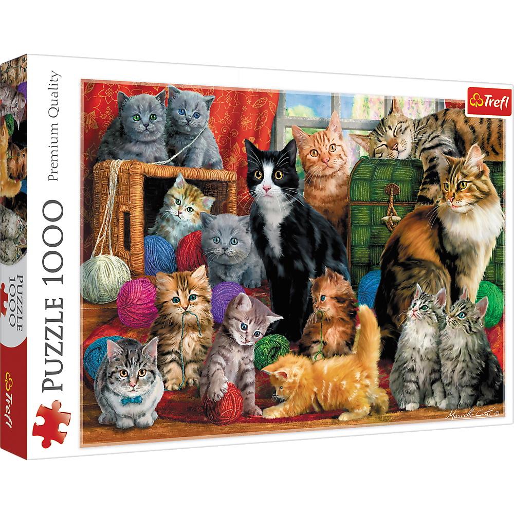 Puzzle Trefl 1000 Intalnirea Pisicutelor