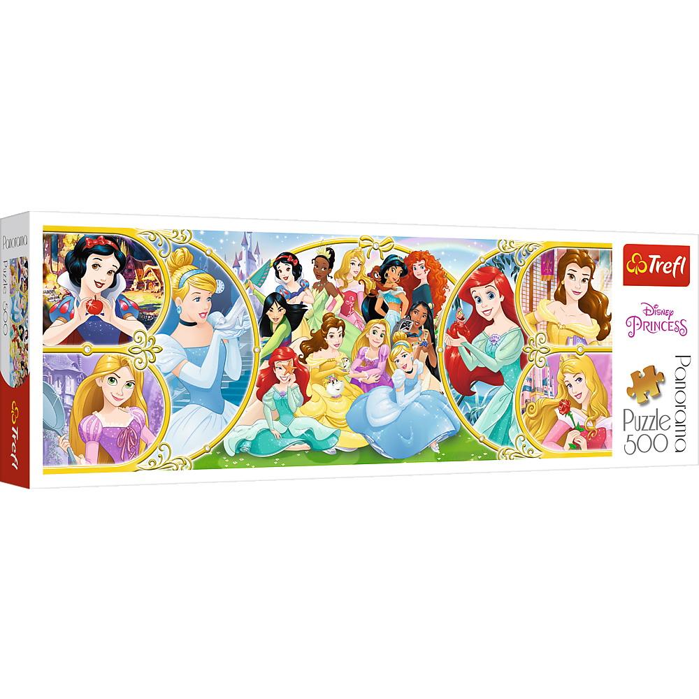 Puzzle Trefl 500 Panorama Printesele Disney