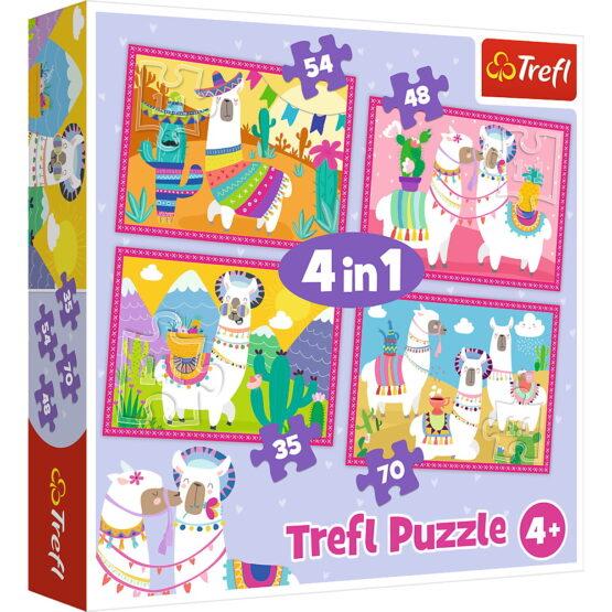 Puzzle Trefl 4in1 Lama In Vacanta