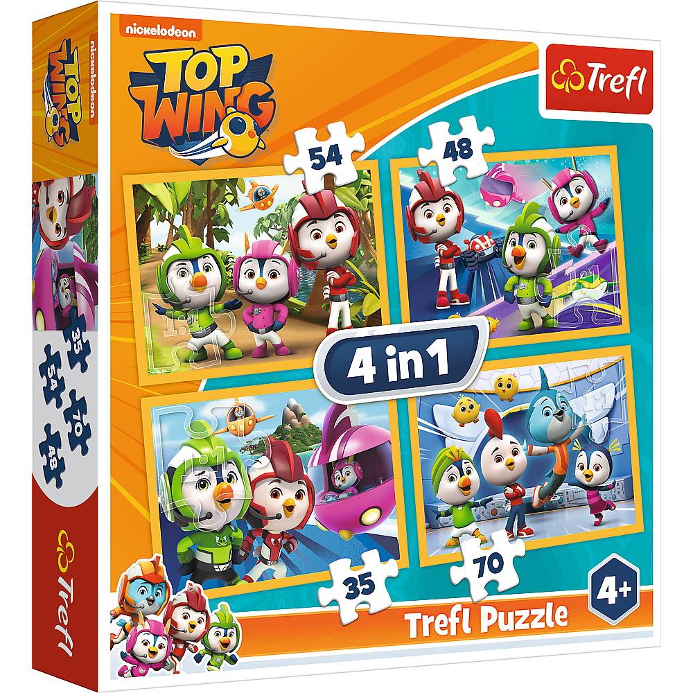 Puzzle Trefl 4in1 Echipa Top Wing In Actiune
