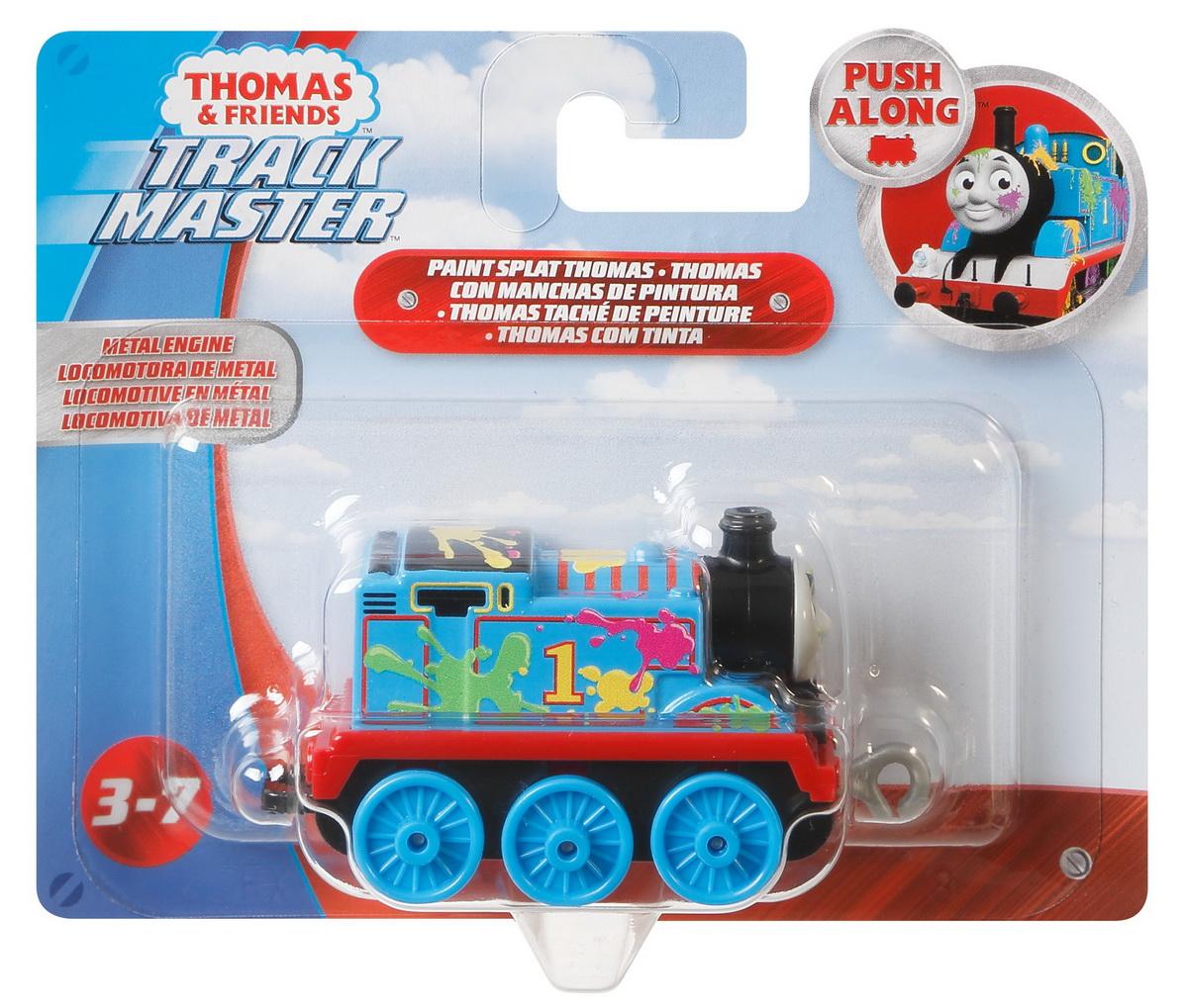 Thomas Locomotiva Push Along Cu Pete Colorate