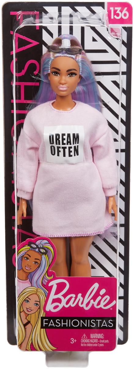 Papusa Barbie Fashionista Rochita Roz Dream Often