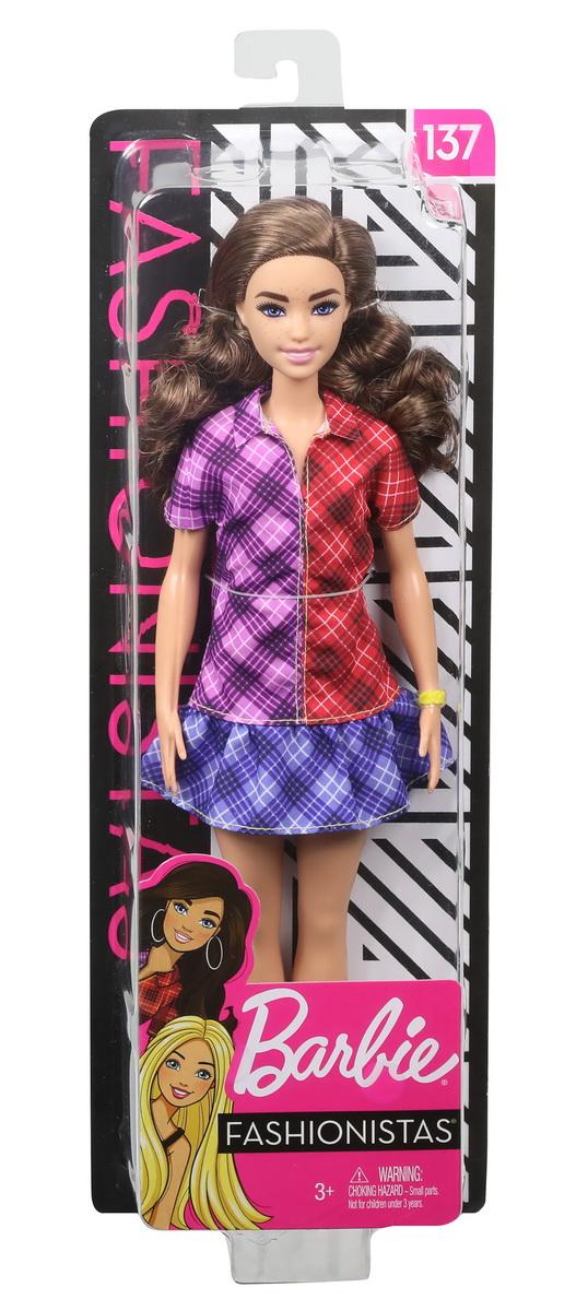 Papusa Barbie Fashionista Cu Rochita Multicolora