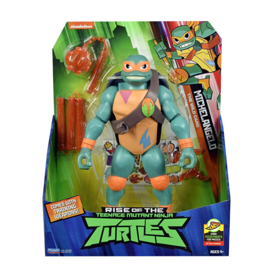 Testoasele Ninja Figurina Michelangelo Gigant Cu Accesorii De Lupta