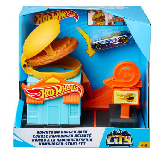 Hot Wheels Pista Burger Cu Masinuta Inclusa