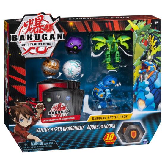 Bakugan Set De Lupta Cu 5 Bile Ventus Hyper Dragonoid Si Aquos Pandoxx