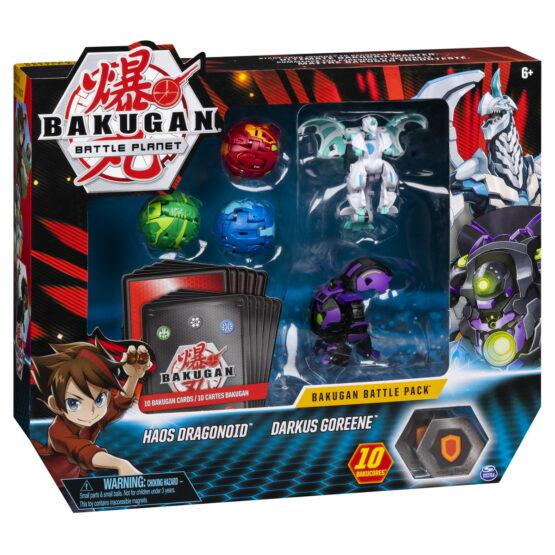 Bakugan Set De Lupta Cu 5 Bile Haos Dragonoid Si Darkus Goreene