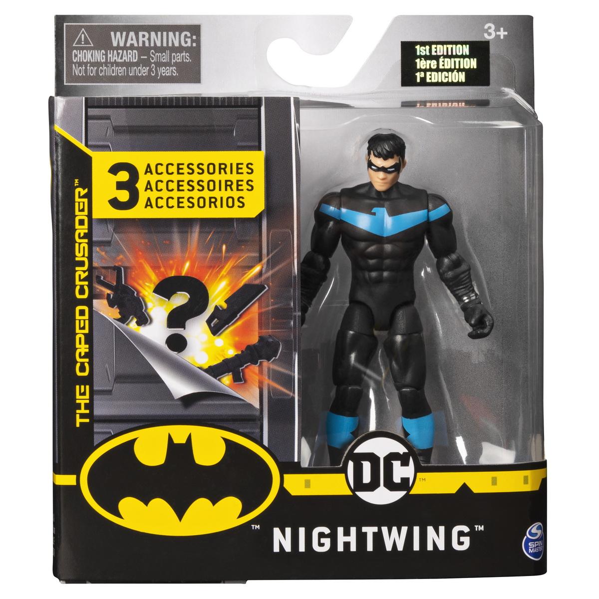 Figurina Nightwing 10cm Cu 3 Accesorii Surpriza
