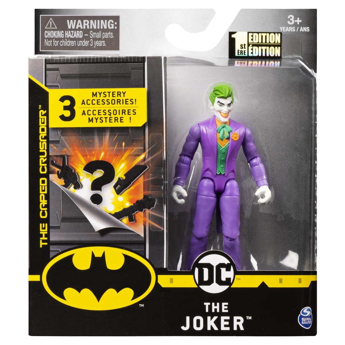 Figurina Joker 10cm Cu Costum Mov Si 3 Accesorii Surpriza