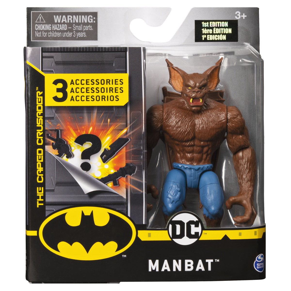 Figurina Manbat 10cm Cu 3 Accesorii Surpriza