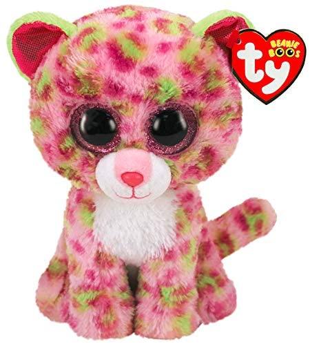 Plus Ty 15cm Boos Leopard Roz