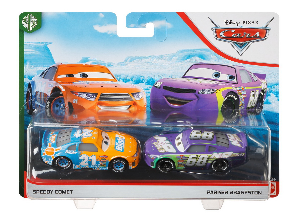 Cars3 Set 2 Masinute Metalice Speedy Comet Si Parker Brakeston