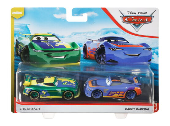 Cars3 Set 2 Masinute Metalice Eric Braker Si Barry Depedal