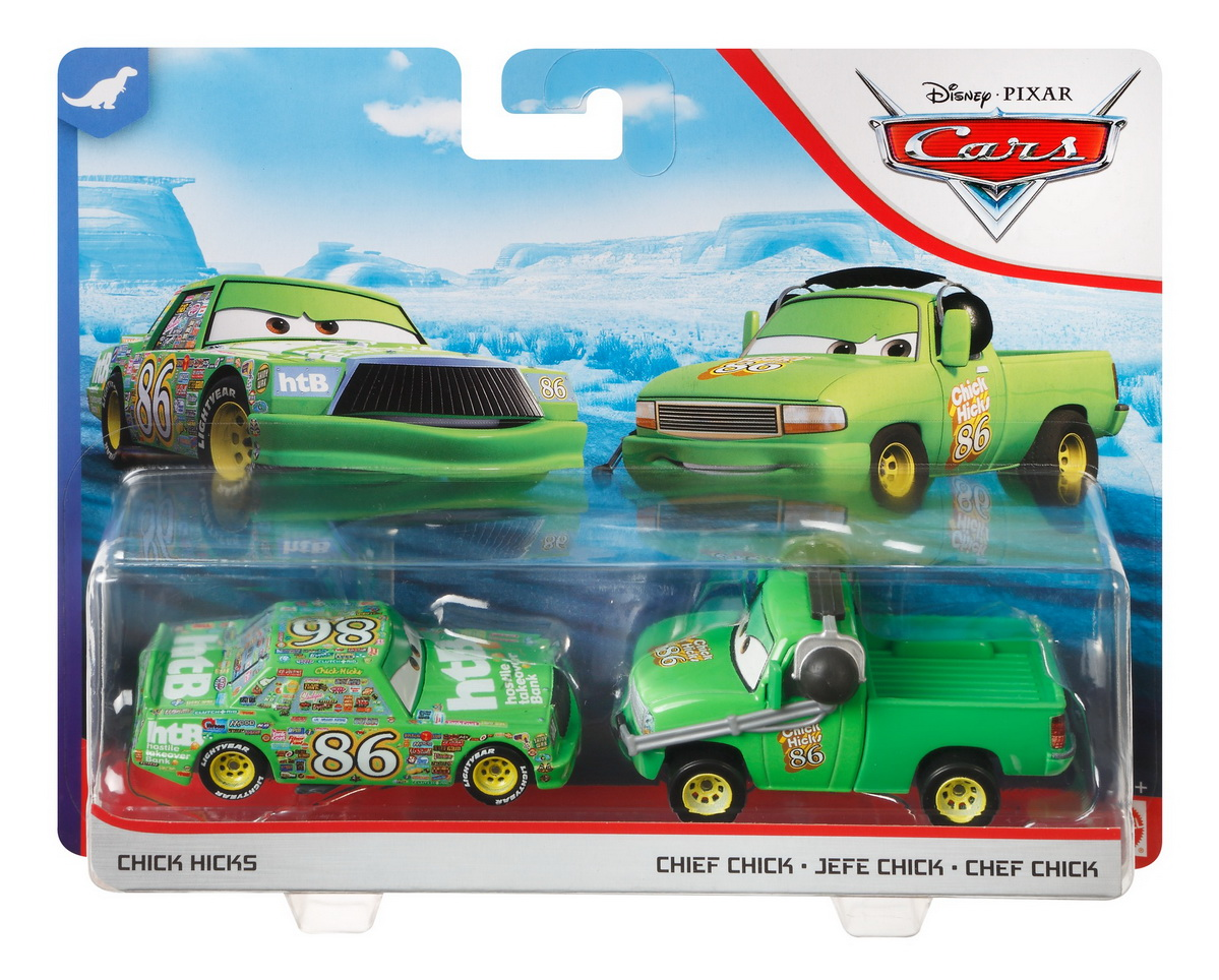 Cars3 Set 2 Masinute Metalice Chick Hicks Si Chief Chick