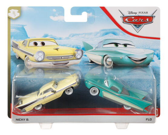 Cars3 Set 2 Masinute Metalice Nicky B Si Flo