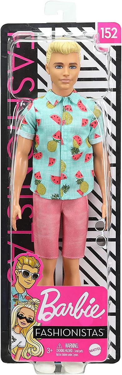 Papusa Baiat Fashionistas Cu Camasa Summer Fruit Design